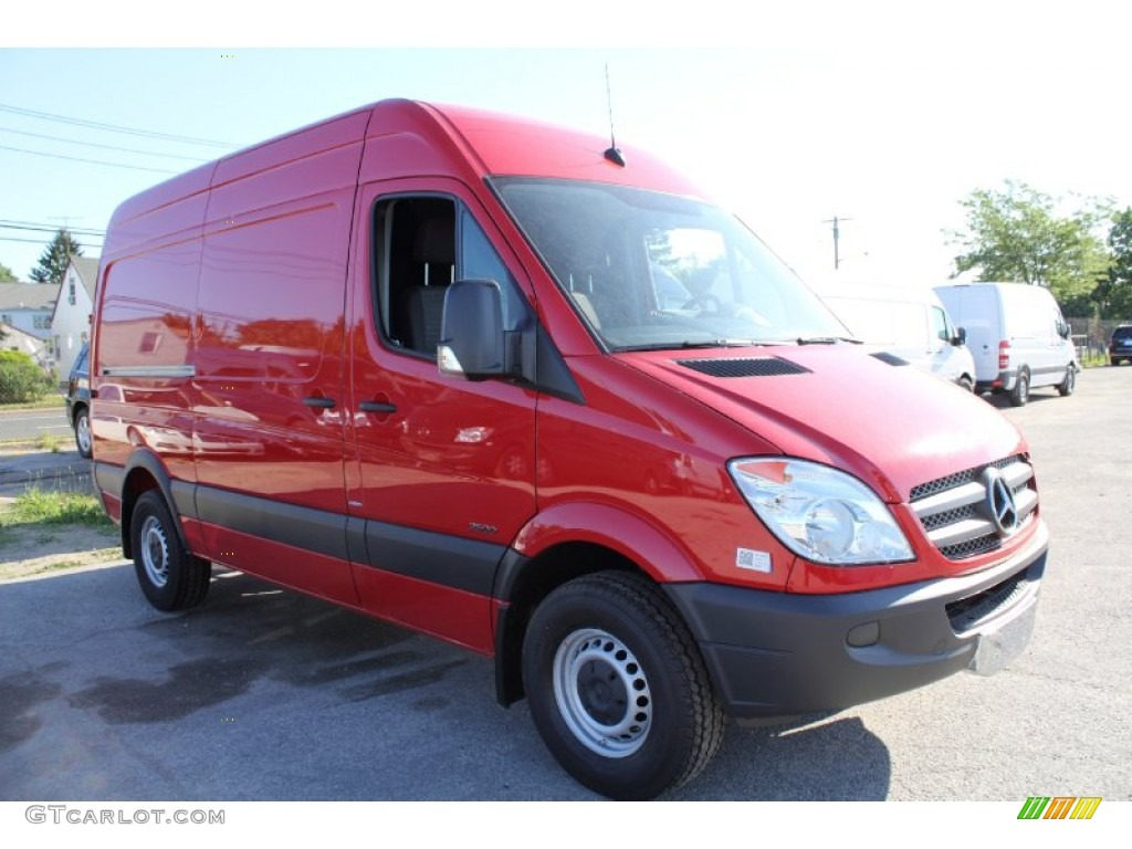 Flame red 2011 mercedes benz sprinter 2500 high roof cargo for 2011 mercedes benz sprinter 2500