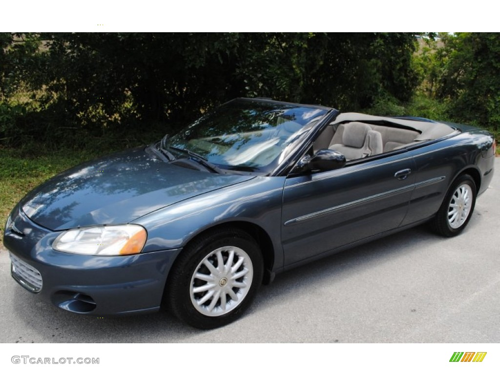 steel blue pearl 2002 chrysler sebring lx convertible exterior photo. Cars Review. Best American Auto & Cars Review