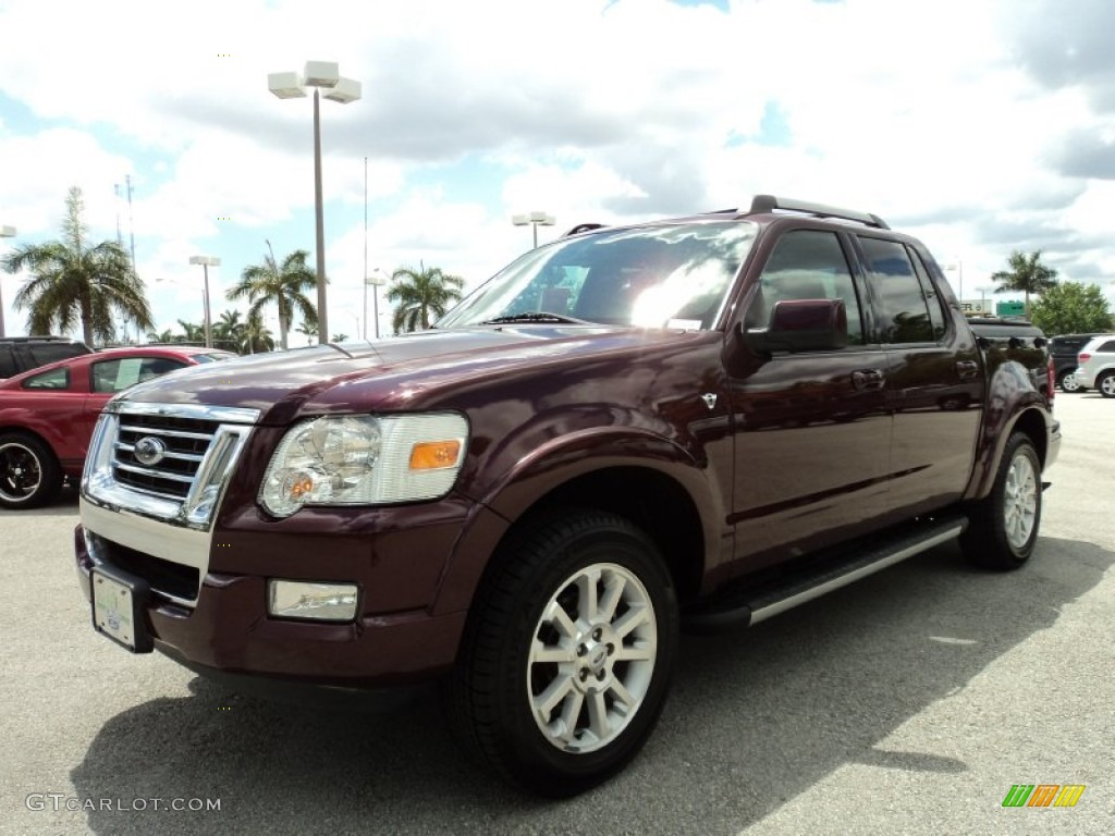 dark cherry metallic 2007 ford explorer sport trac limited. Black Bedroom Furniture Sets. Home Design Ideas