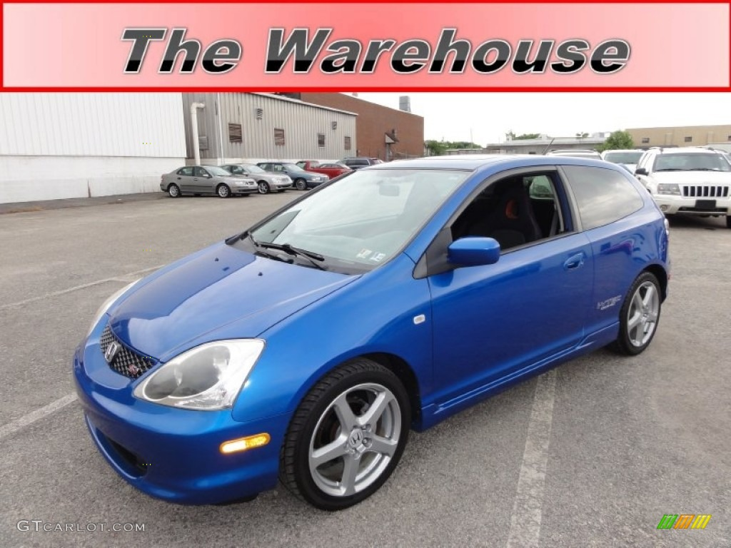 2005 vivid blue pearl honda civic si hatchback 50150808