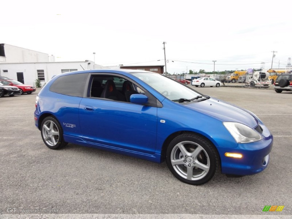 2005 Civic Si Hatchback   Vivid Blue Pearl / Black Photo #6