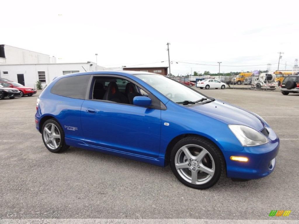 2005 Vivid Blue Pearl Honda Civic Si Hatchback 50150808 Photo 6