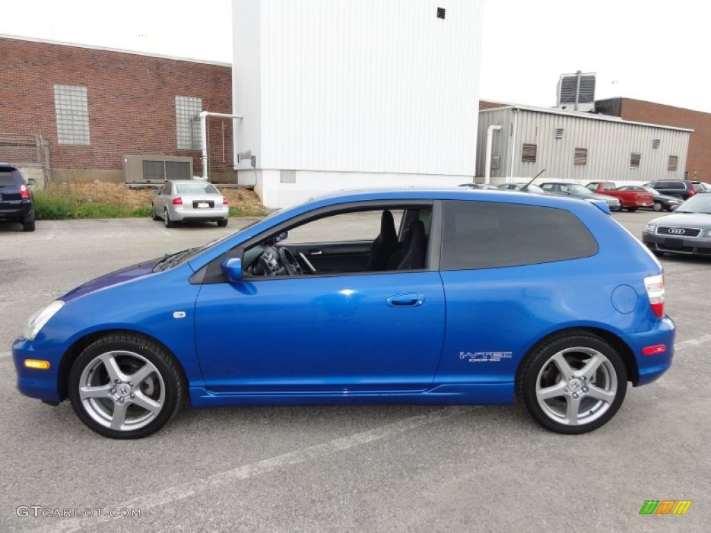 vivid blue pearl 2005 honda civic si hatchback exterior. Black Bedroom Furniture Sets. Home Design Ideas