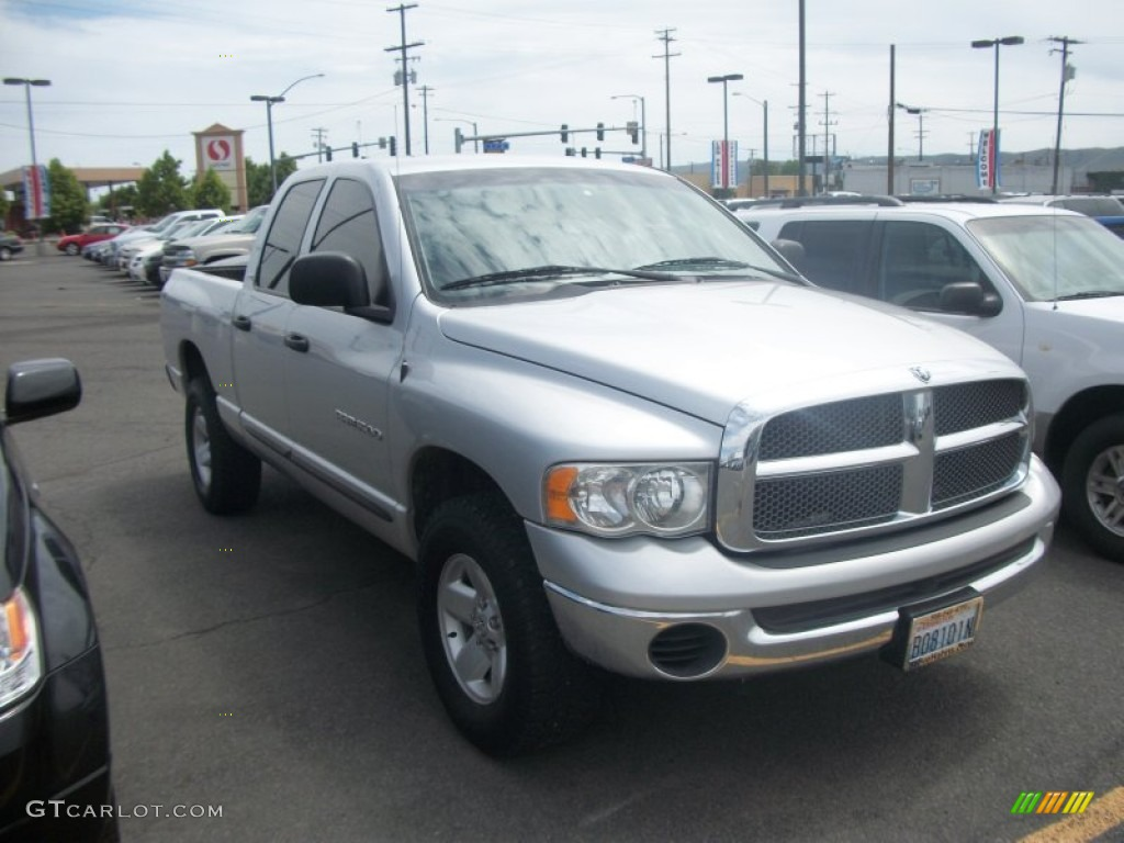 2002 Ram 1500 SLT Quad Cab 4x4 - Bright Silver Metallic / Dark Slate Gray photo #1