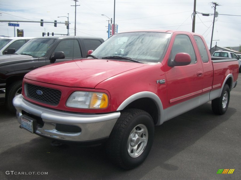 1997 bright red ford f150 xlt extended cab 4x4 50186255. Black Bedroom Furniture Sets. Home Design Ideas