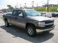 2002 Medium Charcoal Gray Metallic Chevrolet Silverado 1500 LS Extended Cab 4x4  photo #4