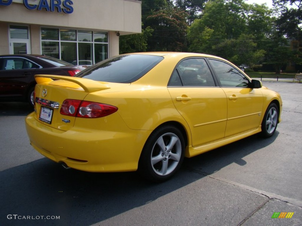 Speed Yellow 2003 Mazda Mazda6 S Sedan Exterior Photo