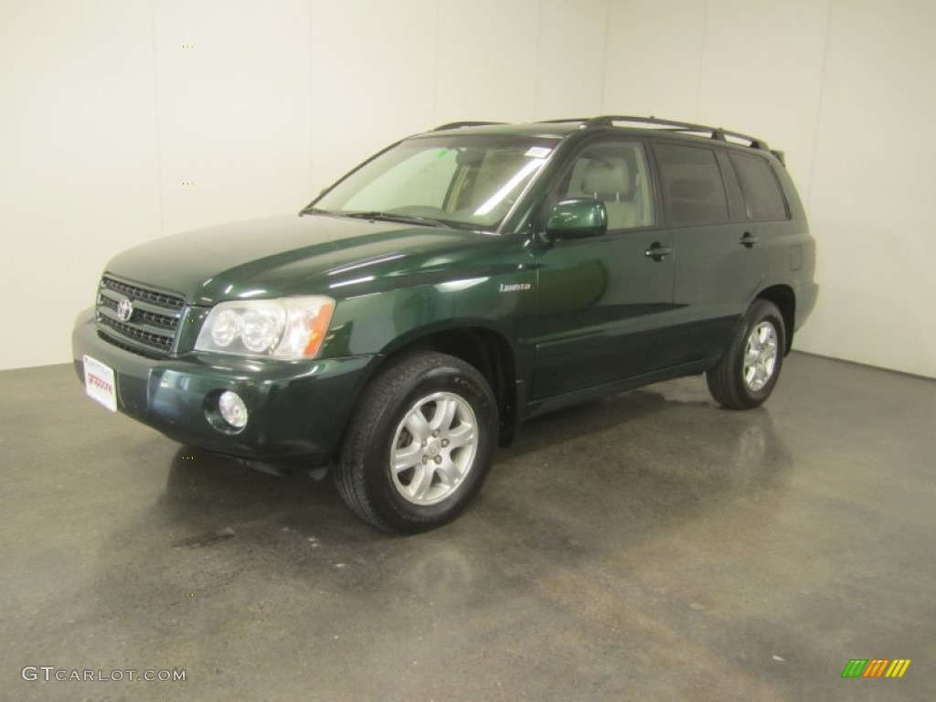 2002 Electric Green Mica Toyota Highlander V6 4wd 50191400