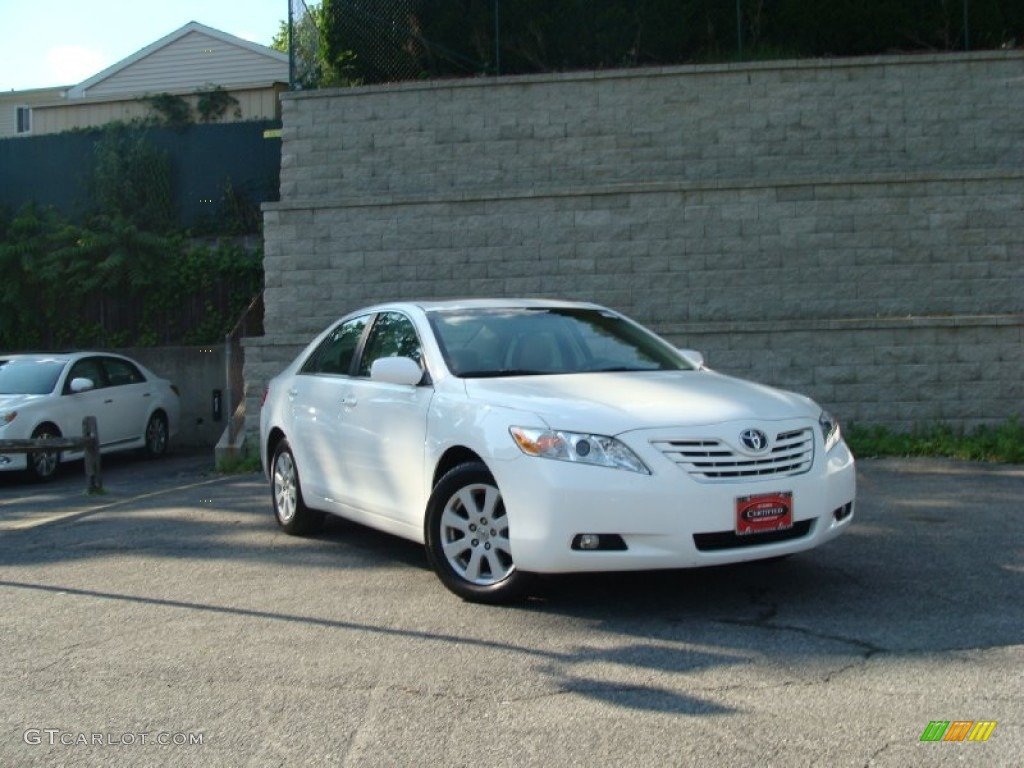 2009 super white toyota camry xle v6 50191668 car color galleries. Black Bedroom Furniture Sets. Home Design Ideas