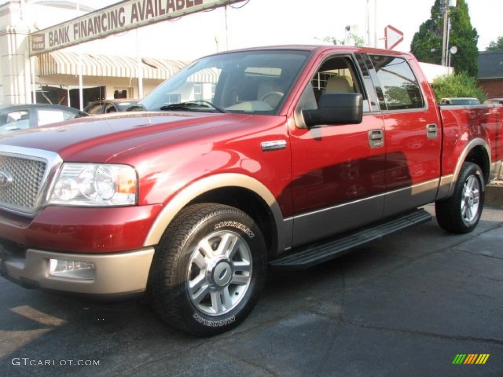 2004 toreador red metallic ford f150 lariat supercrew. Black Bedroom Furniture Sets. Home Design Ideas