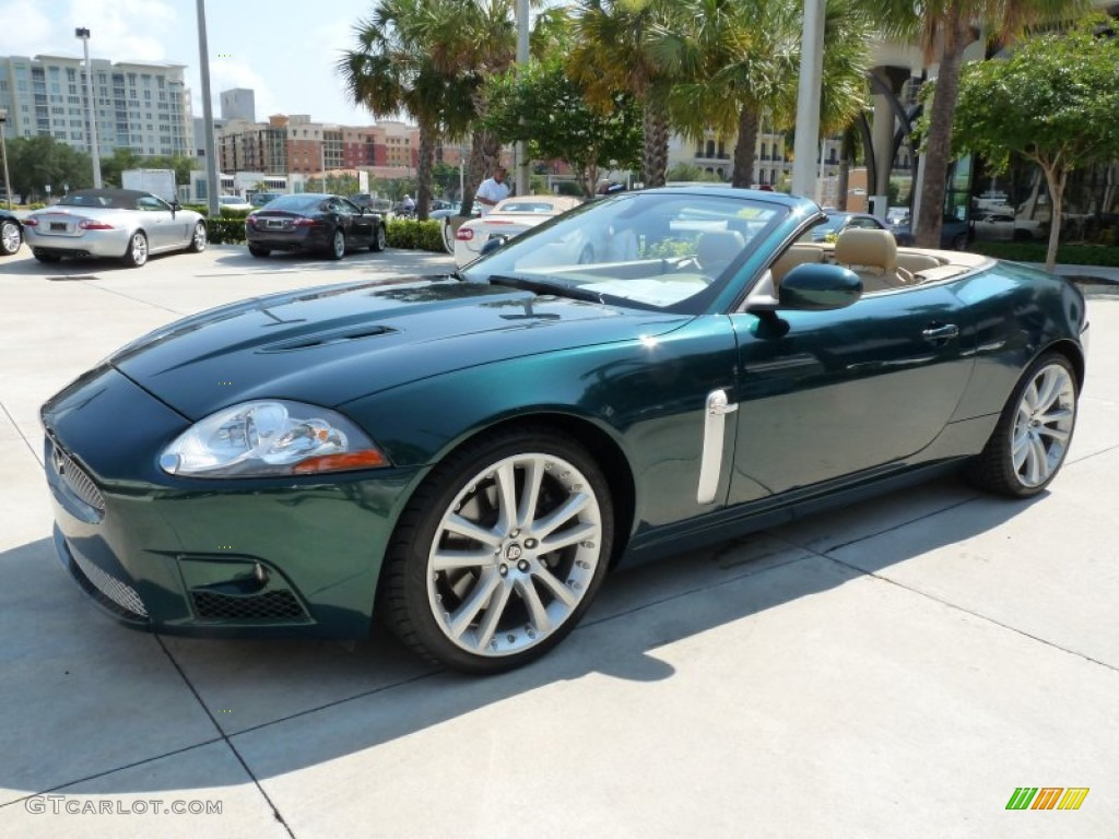 emerald fire green metallic 2007 jaguar xk xkr convertible. Black Bedroom Furniture Sets. Home Design Ideas