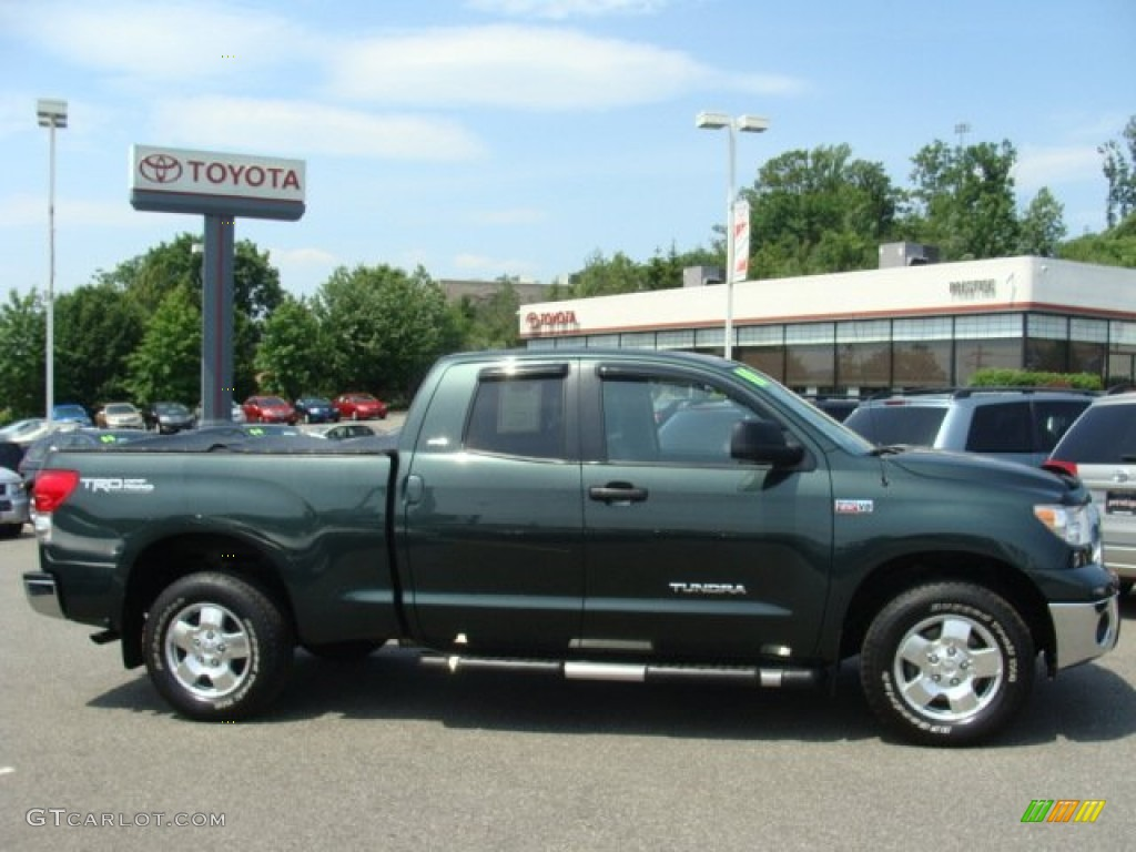 2008 Tundra SR5 TRD Double Cab 4x4   Timberland Green Mica / Graphite Gray  Photo #