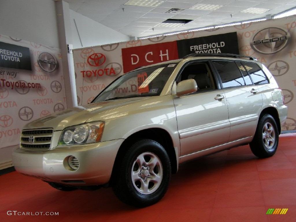 2003 Vintage Gold Metallic Toyota Highlander 4wd 50231416 Car Color Galleries