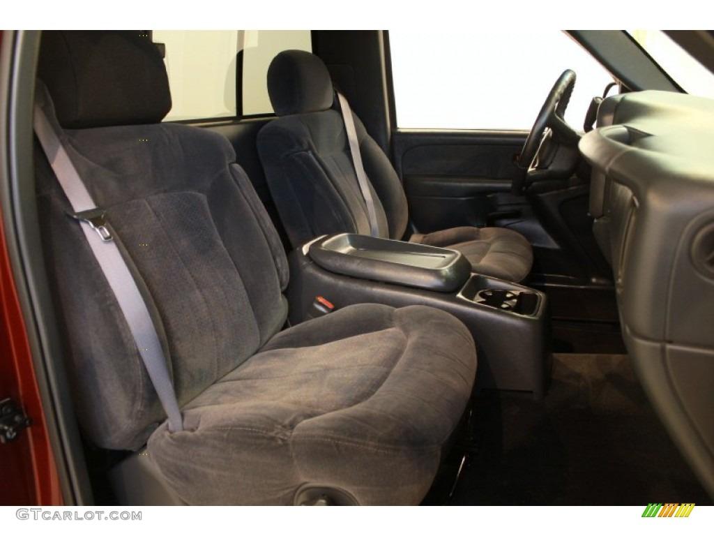 2000 Silverado 1500 LS Regular Cab 4x4 - Dark Carmine Red Metallic / Graphite photo #9