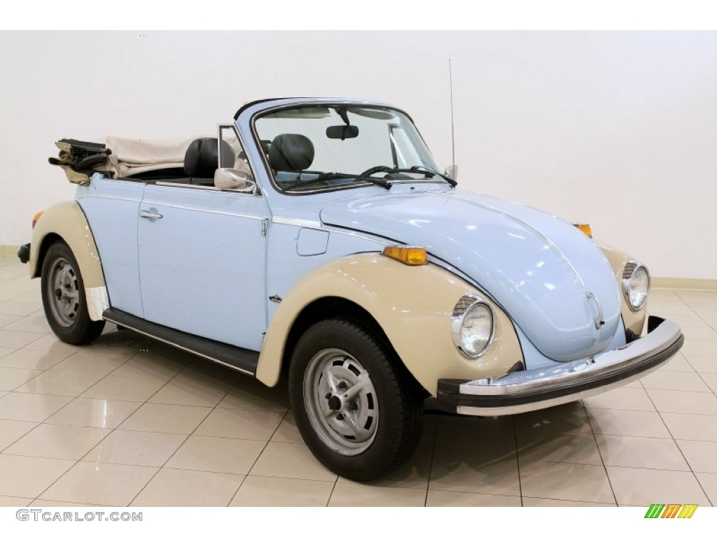 1979 Beetle Convertible Light Blue Black Photo 1