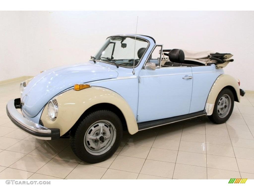 Light Blue 1979 Volkswagen Beetle Convertible Exterior Photo #50260775