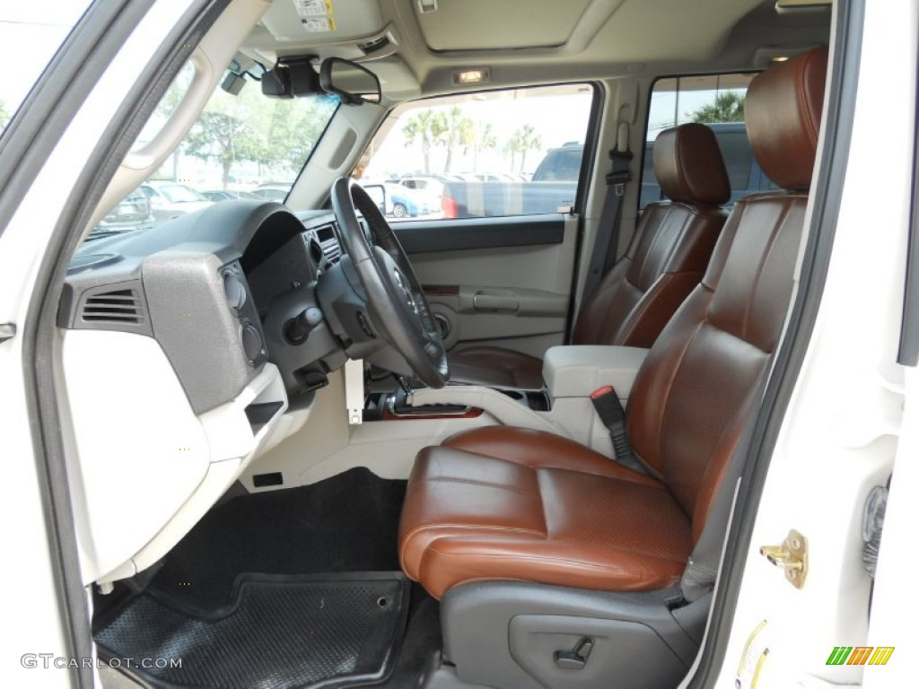 Saddle Brown Interior 2006 Jeep Commander Limited Photo 50262434