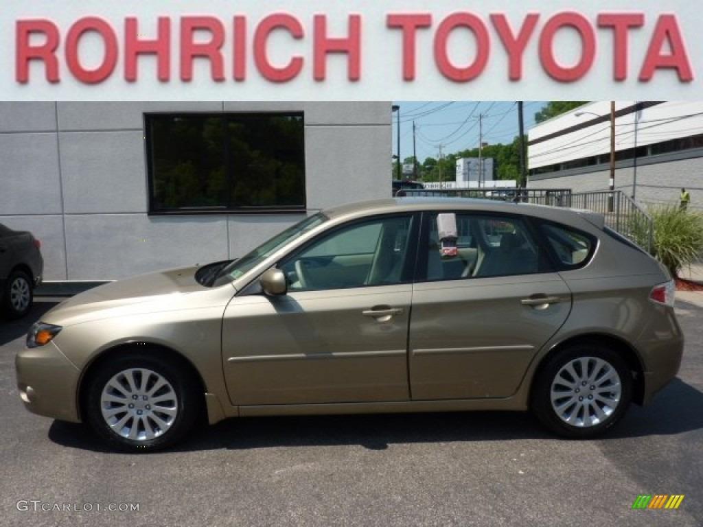 2008 topaz gold metallic subaru impreza 2.5i wagon #50231509