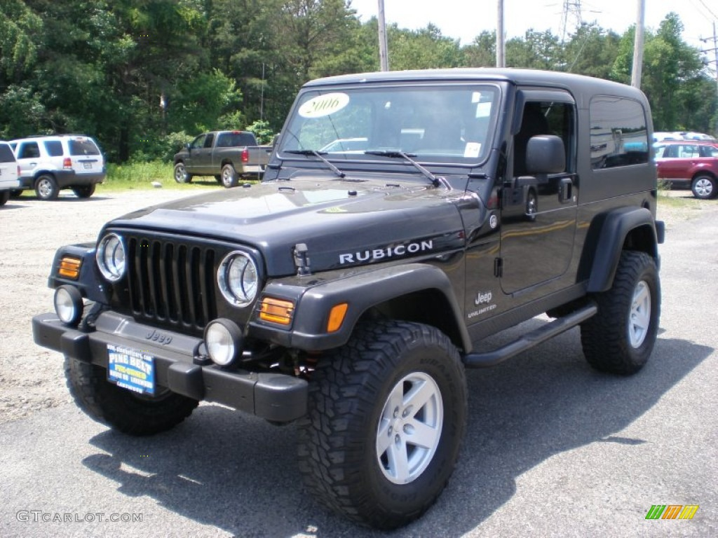 black 2006 jeep wrangler unlimited rubicon 4x4 exterior. Black Bedroom Furniture Sets. Home Design Ideas