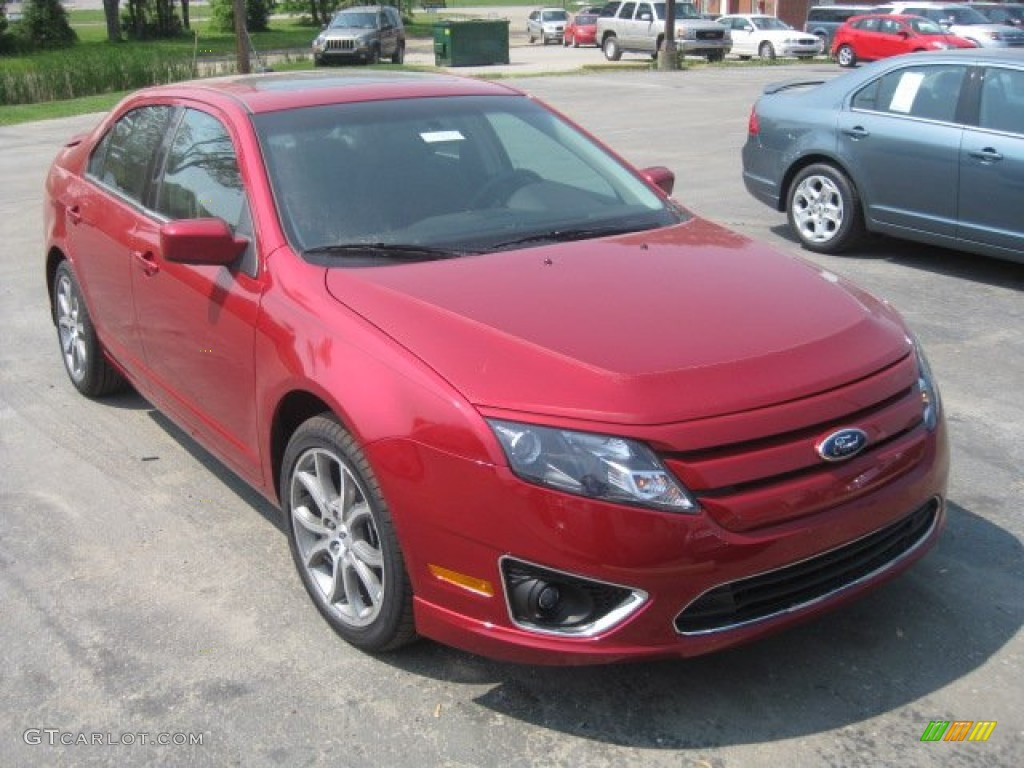 2011 Fusion SEL V6 - Red Candy Metallic / Charcoal Black photo #1