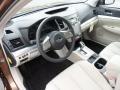 Warm Ivory 2011 Subaru Legacy Interiors