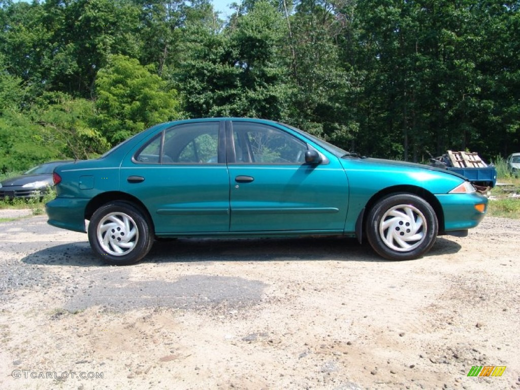 medium green metallic 1999 chevrolet cavalier ls sedan. Black Bedroom Furniture Sets. Home Design Ideas