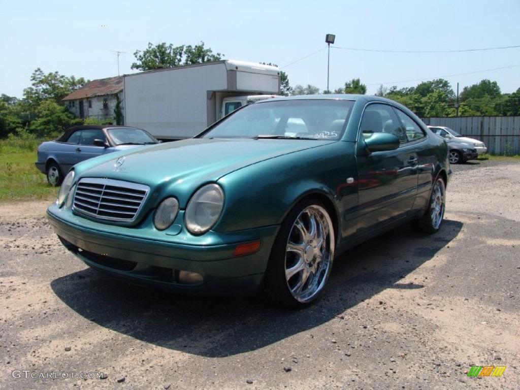 1998 mineral green metallic mercedes benz clk 320 coupe for Mercedes benz green