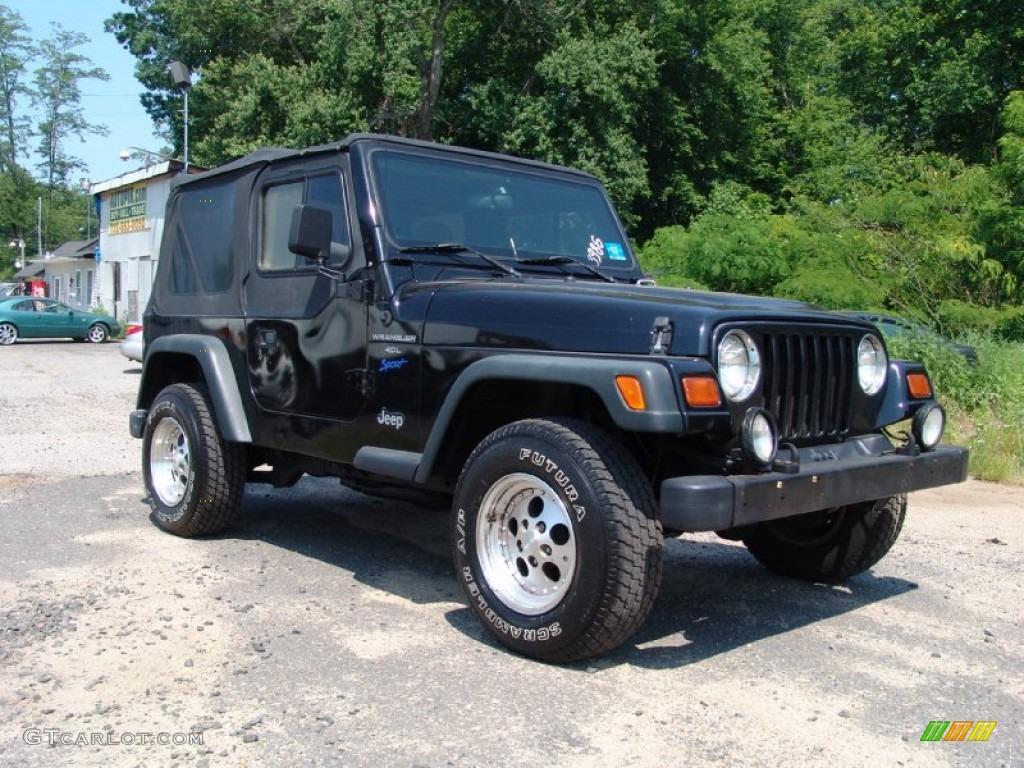 Black 1997 Jeep Wrangler Sport 4x4 Exterior Photo 50292528 Gtcarlot Com