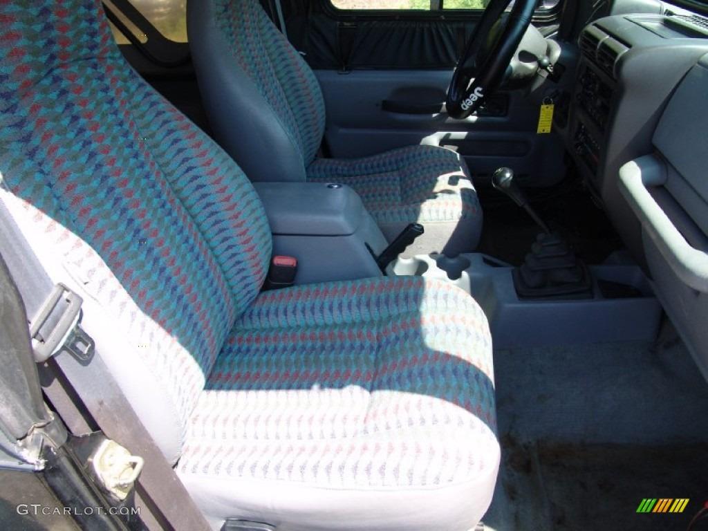 Gray Interior 1997 Jeep Wrangler Sport 4x4 Photo 50292654