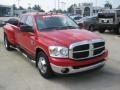 Flame Red 2007 Dodge Ram 3500 Lone Star Quad Cab Dually Exterior