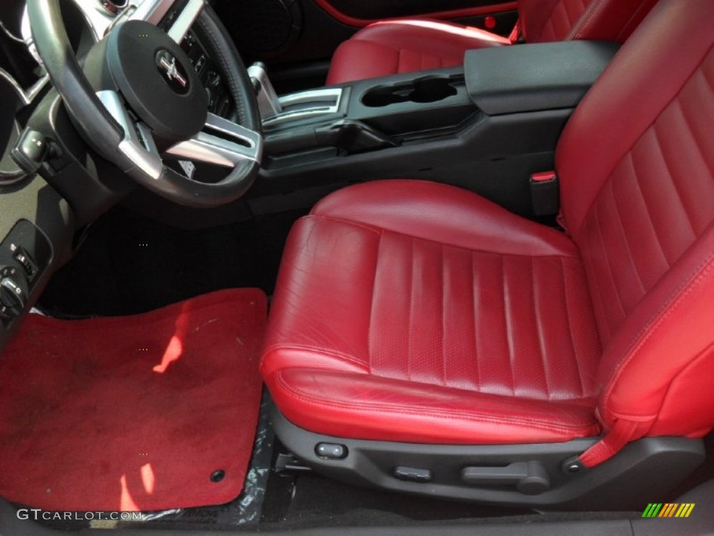 Red Dark Charcoal Interior 2006 Ford Mustang Gt Premium Coupe Photo 50297046