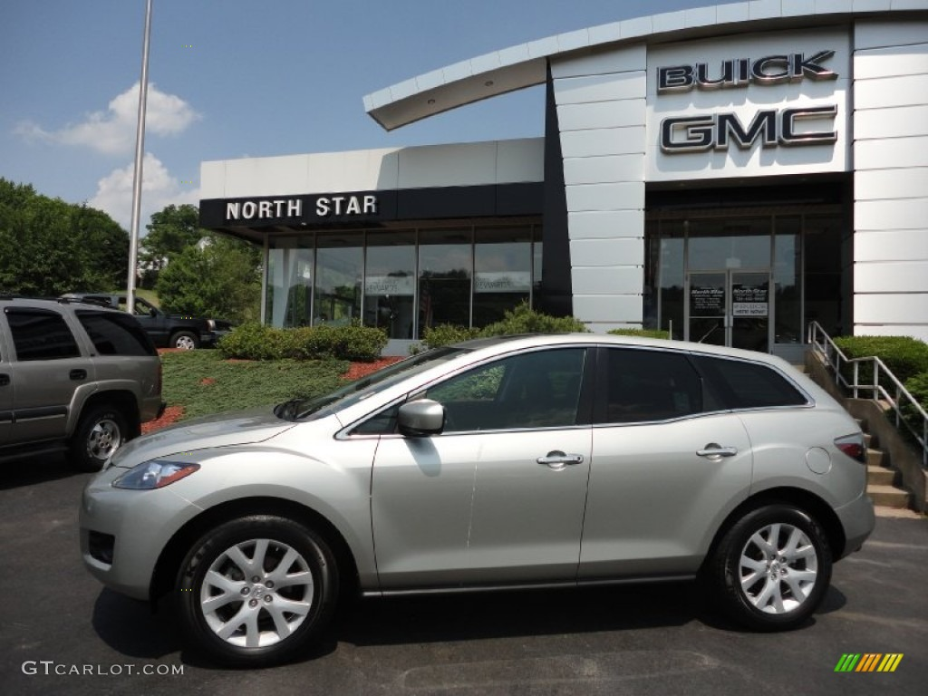 2008 true silver metallic mazda cx 7 grand touring awd 50268202 car color. Black Bedroom Furniture Sets. Home Design Ideas