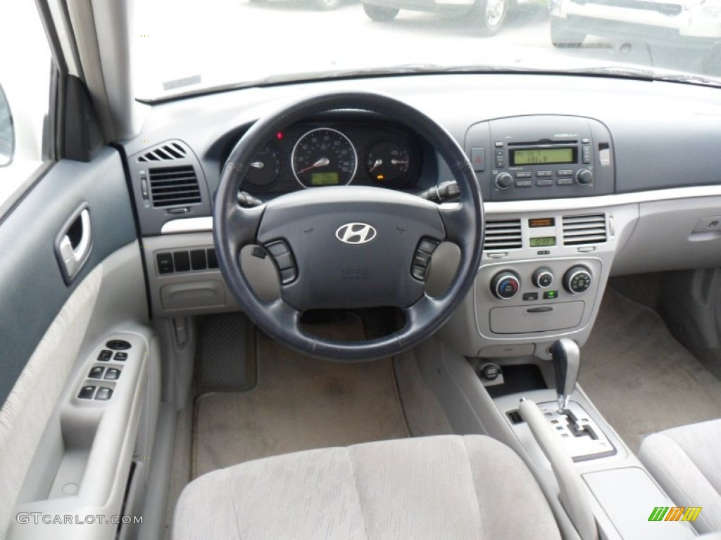 2006 Hyundai Sonata Gl Gray Dashboard Photo 50302002