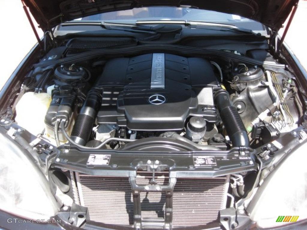 2001 mercedes benz s 500 sedan 5 0 liter sohc 24 valve v8 for Mercedes benz v8 engine