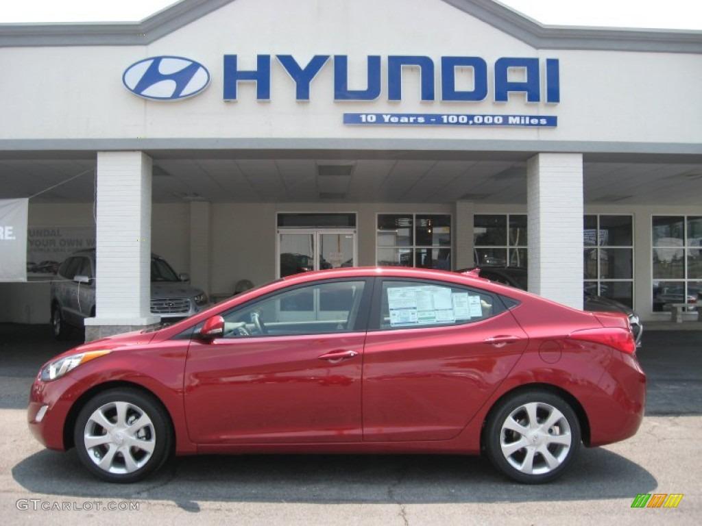 2011 Red Allure Hyundai Elantra Limited 50268029