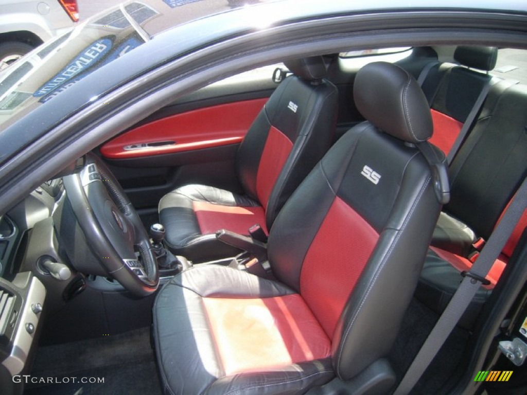 Ebony Red Interior 2007 Chevrolet Cobalt Ss Supercharged Coupe Photo 50312940