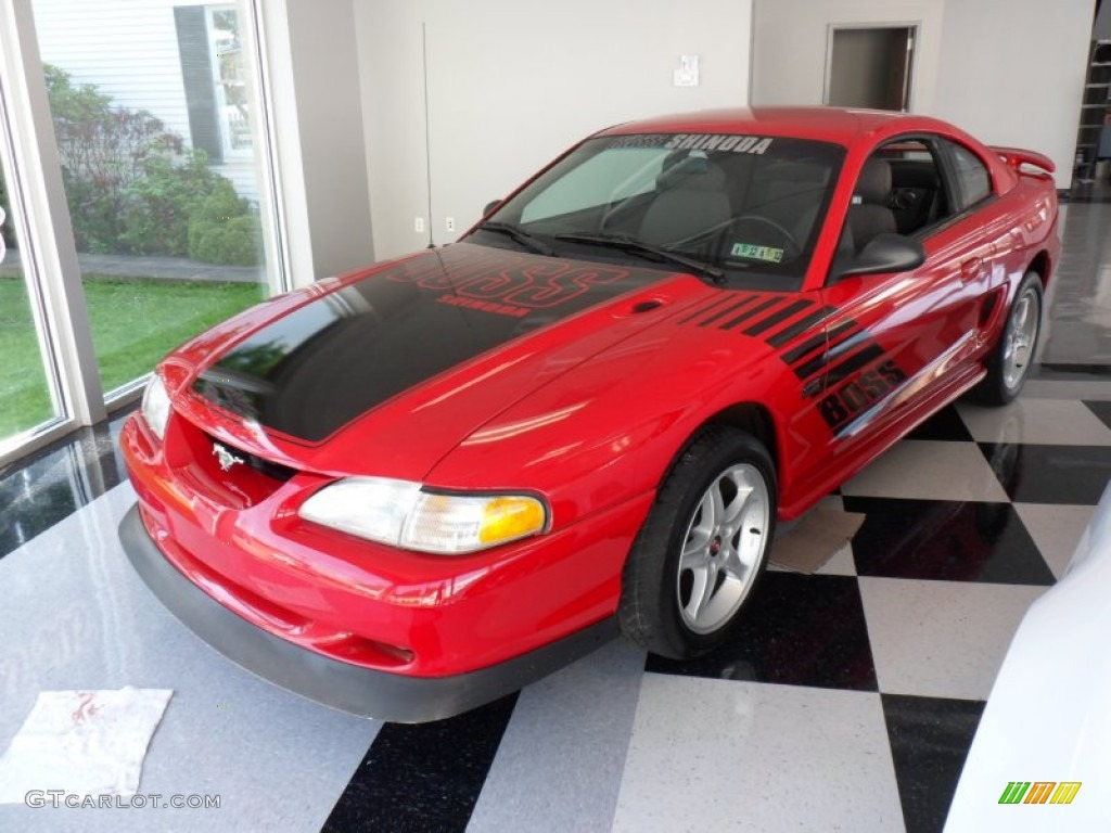 1994 vibrant red ford mustang gt boss shinoda coupe. Black Bedroom Furniture Sets. Home Design Ideas