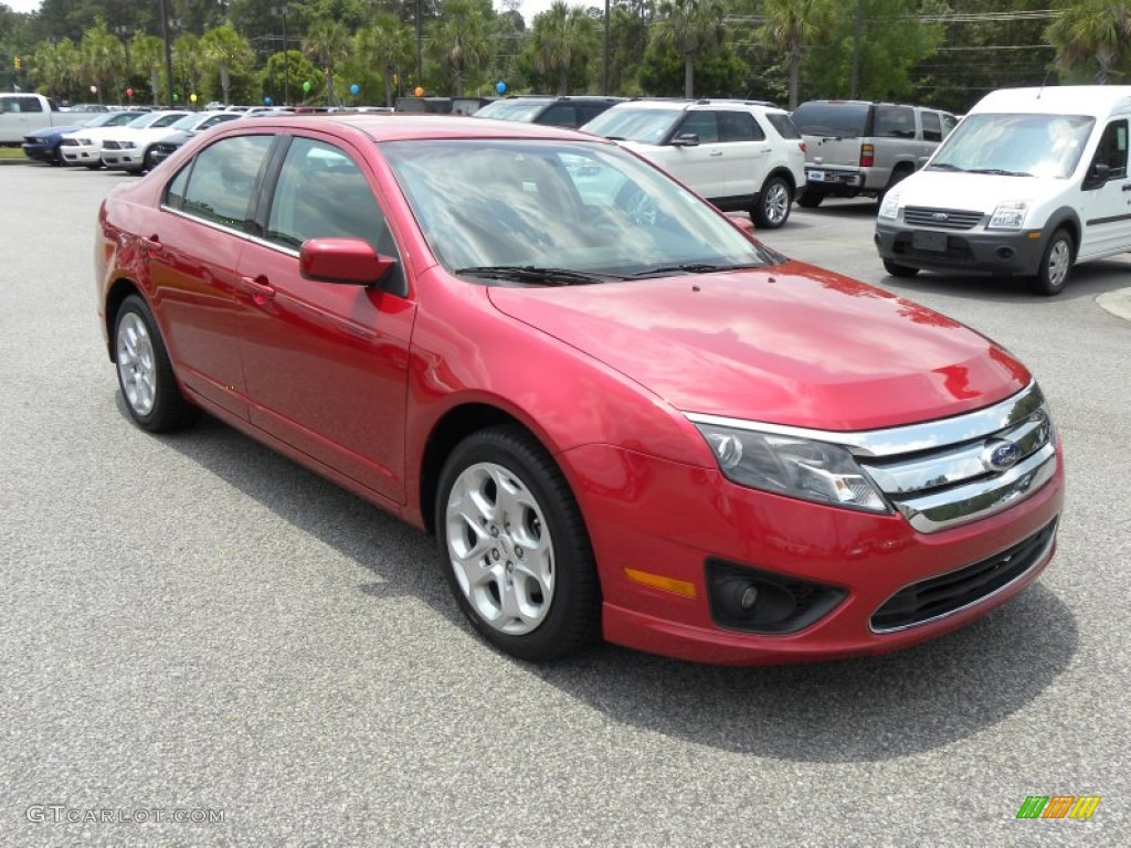 2011 Fusion SE V6 - Red Candy Metallic / Charcoal Black photo #1