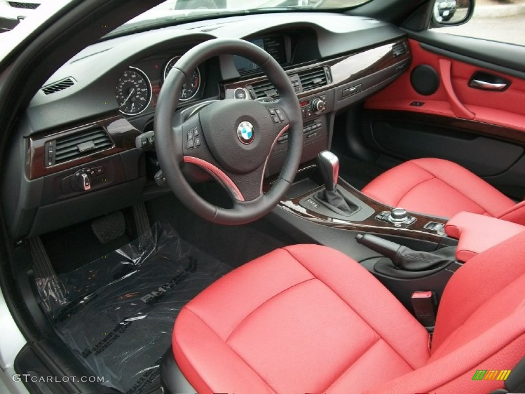 Coral Red Black Dakota Leather Interior 2011 Bmw 3 Series 328i Convertible Photo 50331938