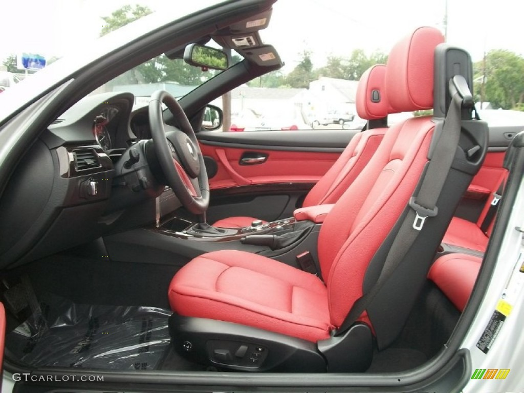 Coral Red Black Dakota Leather Interior 2011 Bmw 3 Series 328i Convertible Photo 50331953