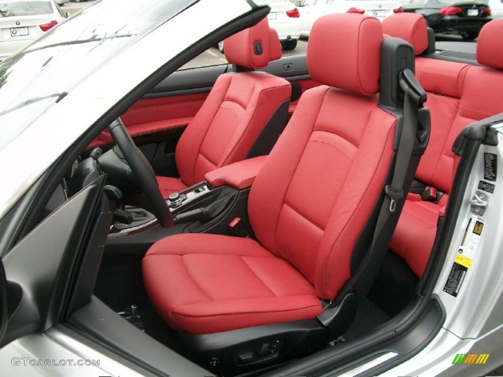 Coral Red Black Dakota Leather Interior 2011 Bmw 3 Series 328i Convertible Photo 50331971