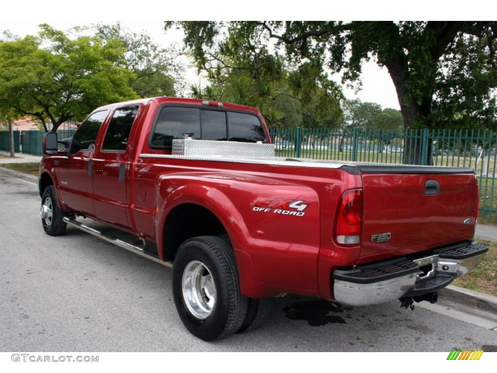toreador red metallic 2003 ford f350 super duty lariat crew cab 4x4 dually exterior photo. Black Bedroom Furniture Sets. Home Design Ideas