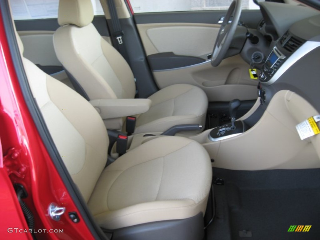beige interior 2012 hyundai accent gls 4 door photo. Black Bedroom Furniture Sets. Home Design Ideas