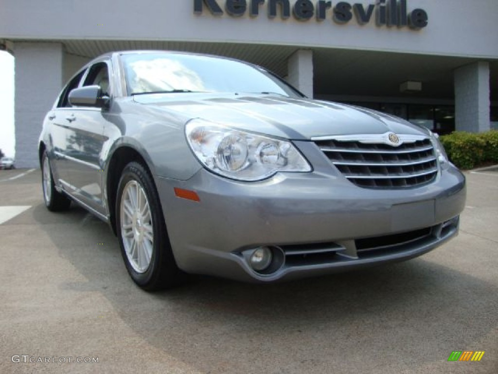 2007 silver steel metallic chrysler sebring limited sedan. Black Bedroom Furniture Sets. Home Design Ideas