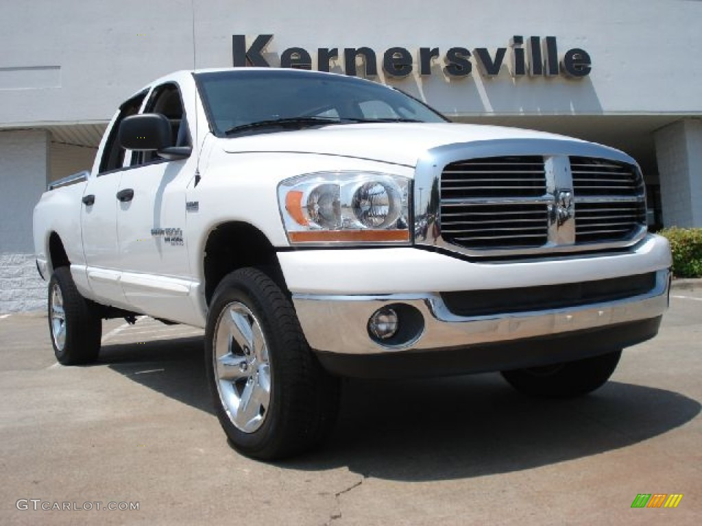 2006 Ram 1500 Big Horn Edition Quad Cab 4x4 - Bright White / Medium Slate Gray photo #1