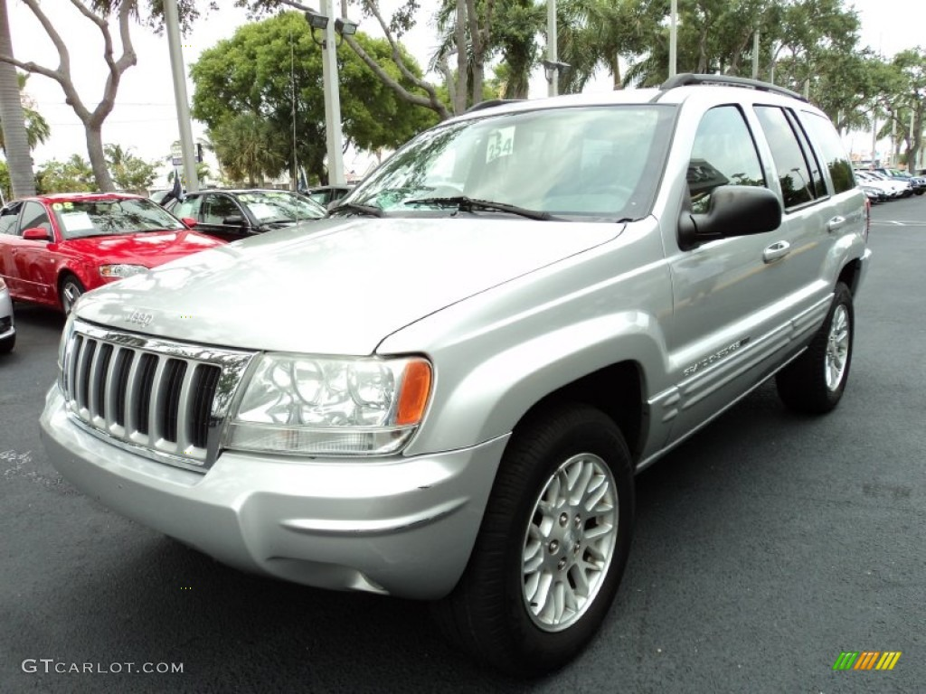 bright silver metallic 2004 jeep grand cherokee limited exterior photo 50362419. Black Bedroom Furniture Sets. Home Design Ideas