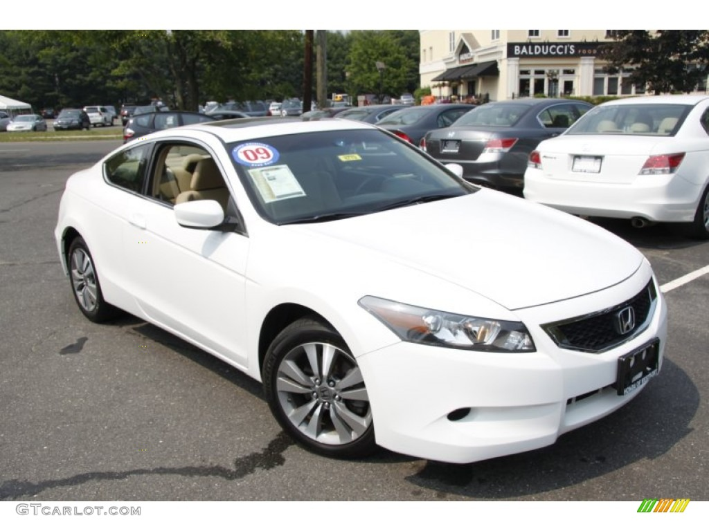 Taffeta White 2009 Honda Accord Ex Coupe Exterior Photo