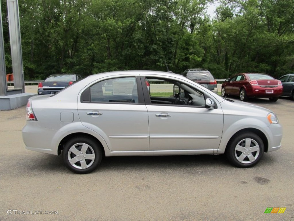 Ice Silver Metallic 2011 Chevrolet Aveo LT Sedan Exterior Photo #50400558
