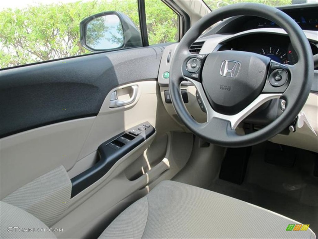 2012 honda civic ex sedan beige steering wheel photo. Black Bedroom Furniture Sets. Home Design Ideas