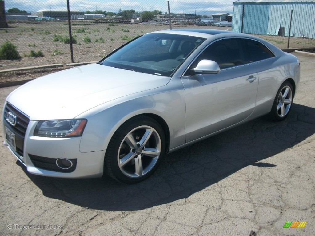 ice silver metallic 2008 audi a5 3 2 quattro coupe. Black Bedroom Furniture Sets. Home Design Ideas